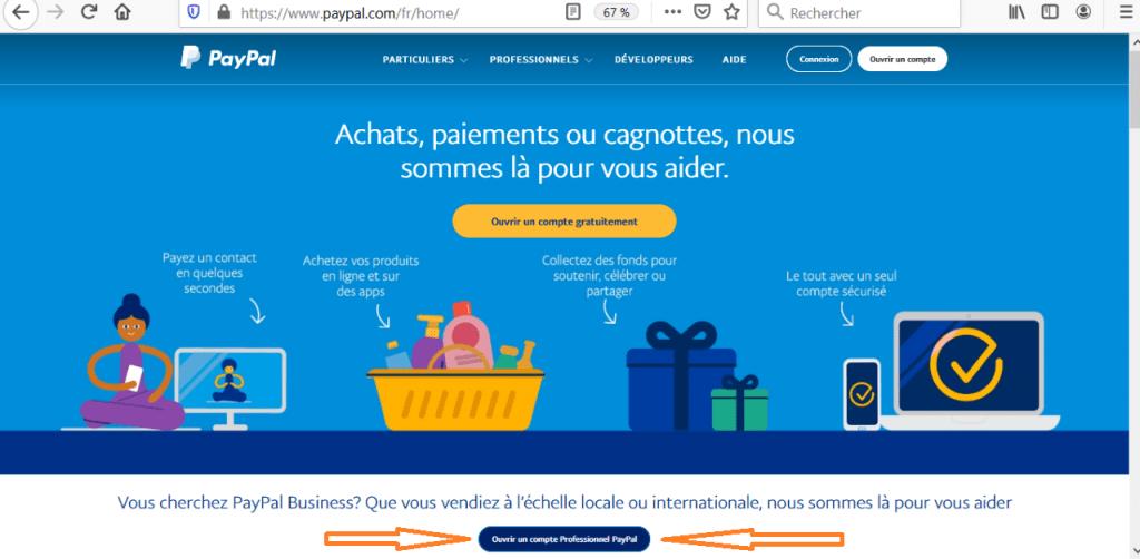 créer compte PayPal rapidement