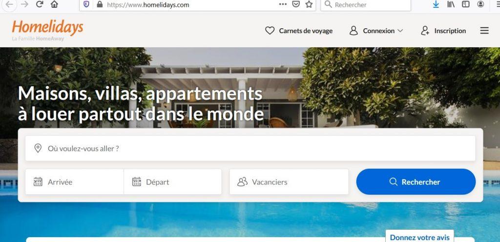 Site web de Homelidays