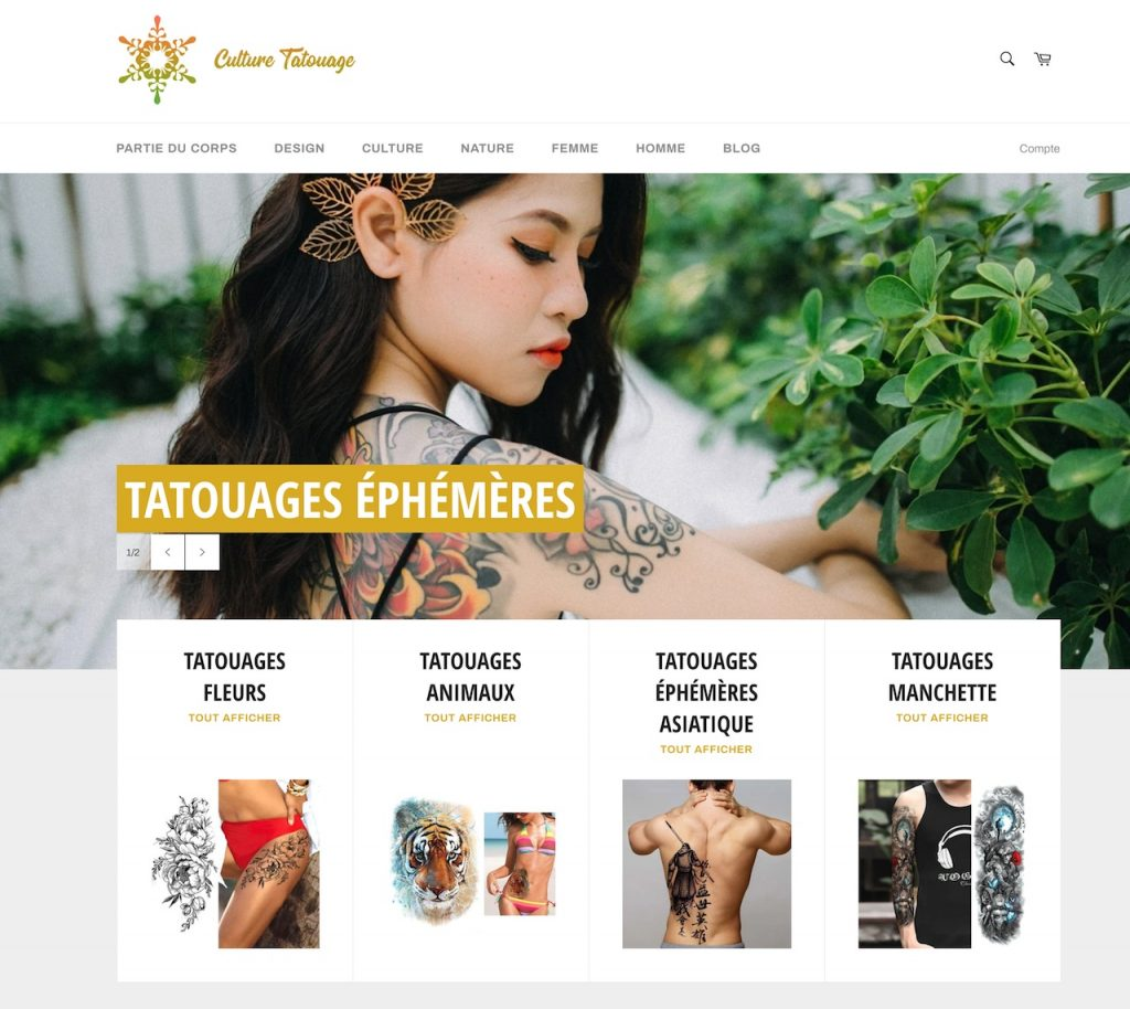 Ejemplo de tienda basada en Shopify