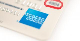 CVV Sur une carte de crédit Améican Express